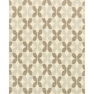 Hand-hooked Indoor/ Outdoor Capri Grey Rug (7'6 x 9'6)