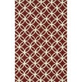 Handmade Indoor/ Outdoor Capri Red Rug (3'6 x 5'6)