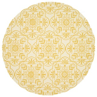 Handmade Indoor/ Outdoor Capri Buttercup Rug (7'10 Round)