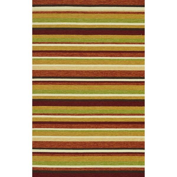 Hand-hooked Indoor/ Outdoor Capri Sunset Rug (3'6 x 5'6)