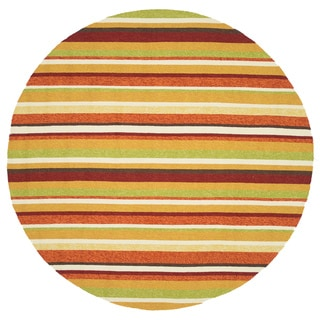 Handmade Indoor/ Outdoor Capri Sunset Rug (7'10 Round)