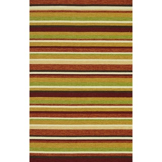 Handmade Indoor/ Outdoor Capri Sunset Rug (7'6 x 9'6)