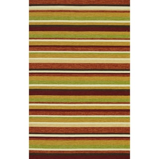 Hand-hooked Indoor/ Outdoor Capri Sunset Rug (7'6 x 9'6)