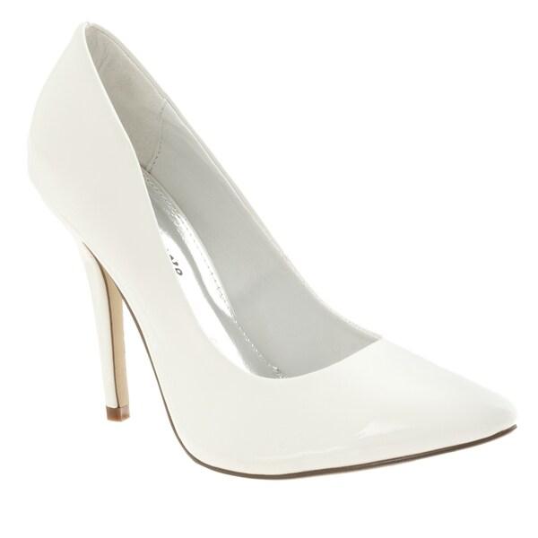 Riverberry Women's 'Axel' White Patent Stilettos