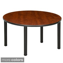 Regency Seating 48-inch Round Table with Black Post Legs