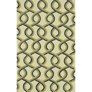 Hand-hooked Indoor/ Outdoor Capri Multi Rug (9'3 x 13')
