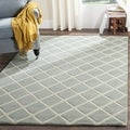 Safavieh Handmade Moroccan Grey Contemporary Wool Rug (7' Square)