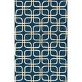 Handmade Indoor/ Outdoor Capri Blue Rug (2'3 x 3'9)
