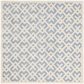 Safavieh Handmade Moroccan Blue Indoor Wool Rug (7' Square)