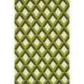 Handmade Indoor/ Outdoor Capri Green Trellis Rug (3'6 x 5'6)