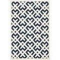 Safavieh Handmade Moroccan Dark Blue/Ivory Wool Rug (4' x 6')