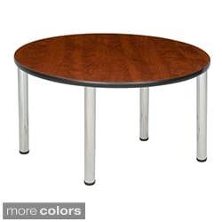 Regency Seating 48-inch Round Table with Chrome Post Legs