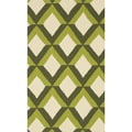 Handmade Indoor/ Outdoor Capri Green Trellis Rug (2'3 x 3'9)