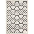 Safavieh Chatham Handmade Moroccan Dark Gray/ Ivory Wool Rug (6' x 9')