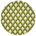 Handmade Indoor/ Outdoor Capri Green Trellis Rug (7'10 Round)