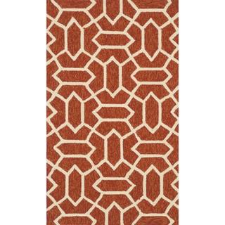 Handmade Indoor/ Outdoor Capri Rust Rug (2'3 x 3'9)