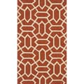 Handmade Indoor/ Outdoor Capri Rust Rug (2'3 x 3'9)