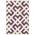 Handmade Moroccan Purple Indoor Wool Rug (2' x 3')