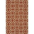 Handmade Indoor/ Outdoor Capri Rust Rug (3'6 x 5'6)
