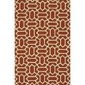 Handmade Indoor/ Outdoor Capri Rust Rug (5' x 7'6)