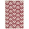 Handmade Moroccan Red Wool Area Rug (6' x 9')