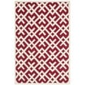 Contemporary Handmade Moroccan Red Wool Rug (8' x 10')