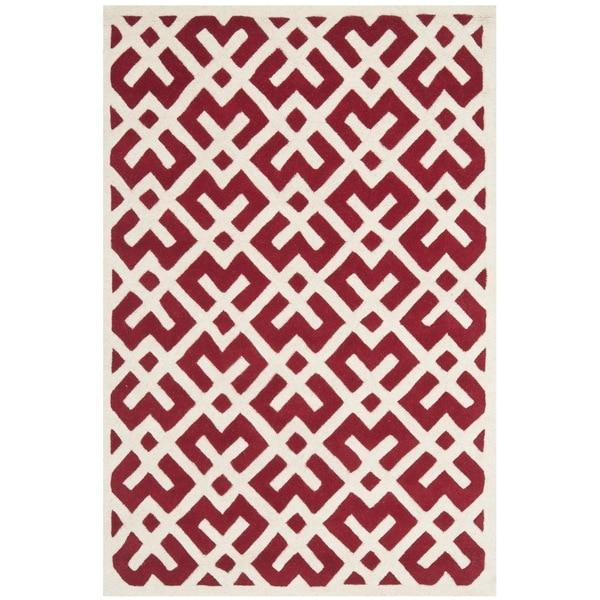 Safavieh Contemporary Handmade Moroccan Red Wool Rug (8' x 10')