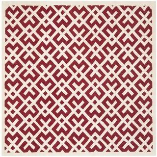 Safavieh Large Handmade Moroccan Red Wool Rug (7' Square)
