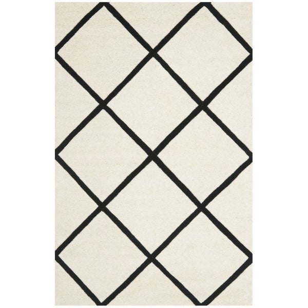 Safavieh Contemporary Handmade Moroccan Ivory Wool Rug (4' x 6')