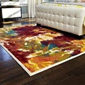 Skye Monet Flame Rug (5'2 x 7'7)