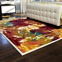 Skye Monet Flame Rug (5'2 x 7'7)