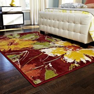 Skye Monet Hibiscus Rug (5'2 x 7'7)