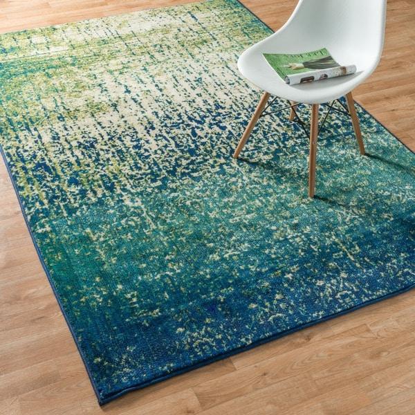 Skye Monet Blue Cascade Rug 5 2 X 7 7 15149999