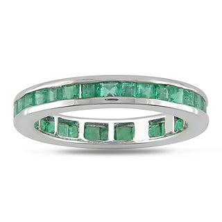 Miadora 14k White Gold Emerald Ring