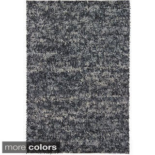 "Handwoven Mandara Contemporary Wool Shag Rug (5' x 7'6"")"