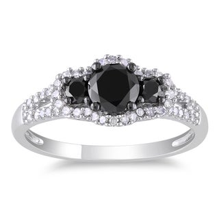 Miadora 14k Gold 1ct TDW Black and White Diamond Ring (G-H, I1-I2)