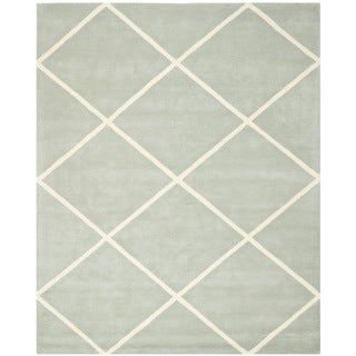 Safavieh Handmade Moroccan Chatham Grey Wool Diamond-Patterned Rug (8' x 10')