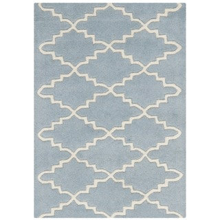 Safavieh Handmade Moroccan Blue Contemporary Wool Rug (2' x 3')