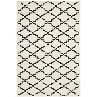 Safavieh Handmade Moroccan Ivory Wool Rug with Cotton Canvas Backing (4' x 6')