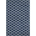 Handmade Moroccan Dark Blue Indoor Wool Rug (6' x 9')