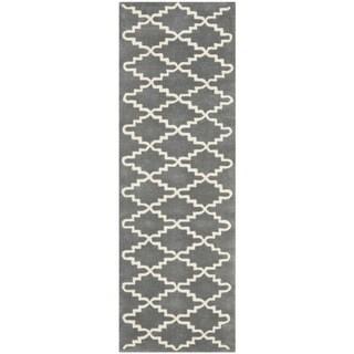 Safavieh Handmade Moroccan Chatham Contemporary Dark Gray Wool Rug (2'3 x 7')