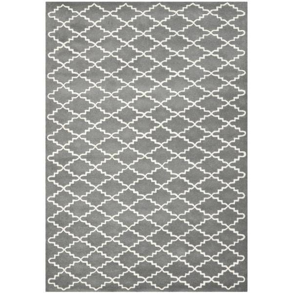 Safavieh Handmade Moroccan Dark Grey Wool Rug (6' x 9')