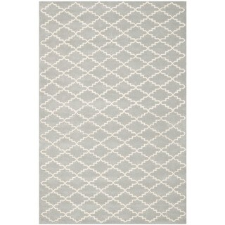 Safavieh Handmade Moroccan Chatham Gray Wool Rug with Durable Backing (8' x 10')