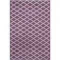 Contemporary Handmade Moroccan Purple Wool Rug (6' x 9')