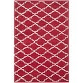 Safavieh Handmade Rectangular Moroccan Chatham Red Wool Rug (4' x 6')