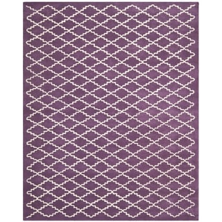 Contemporary Handmade Moroccan Purple Wool Rug (8' x 10')