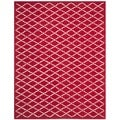 Contemporary Handmade Moroccan Red Wool Rug (6' x 9')