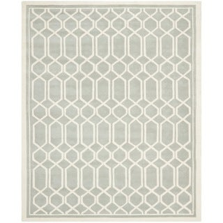 Safavieh Contemporary Handmade Moroccan Chatham Gray Wool Rug (8' x 10')