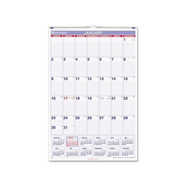 2015 Recycled Monthly Wall Calendar (20 x 30)