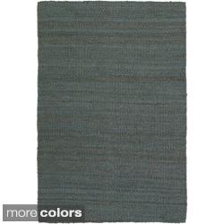 Hand-woven Mandara Natural Rug (5' x 7'6)